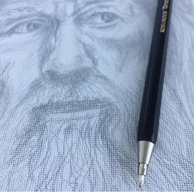 Gandalf - silverpoint