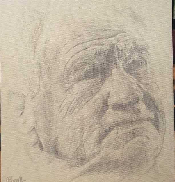 Bobby Robson silverpoint